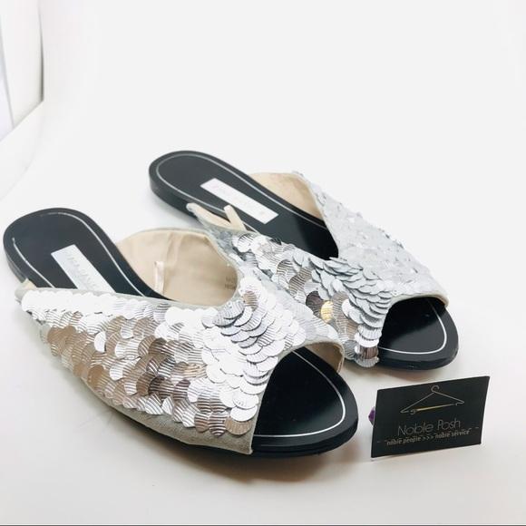 Zara Basics silver Sequence slip on miles